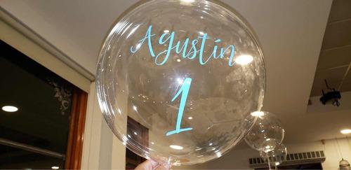 globo burbuja personalizado con helio
