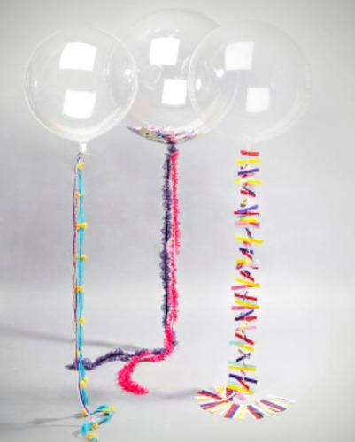 globo burbuja transparente 24 pulgadas decoracion