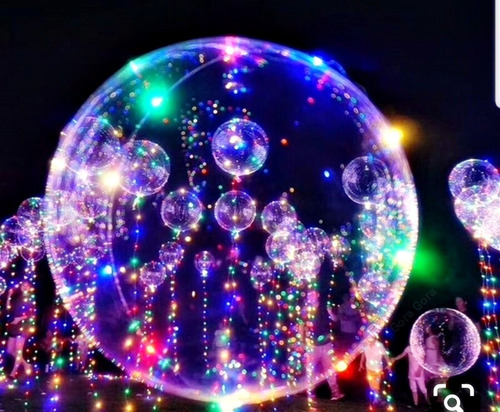 globo burbuja transparente 30 luces led navidad fiesta deco