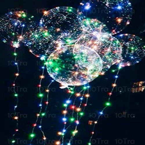 globo burbuja transparente con 30 luces led 3 metro de tira