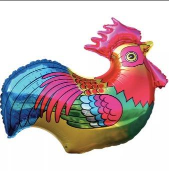 globo caballo gallina gallo jardin granja animales 30 cm