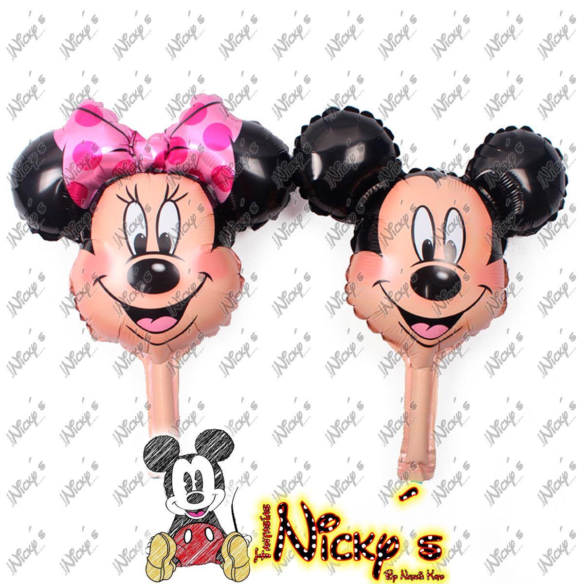 Globo Cara De Mickey O Minnie Mouse Para Centro De Mesa Ch