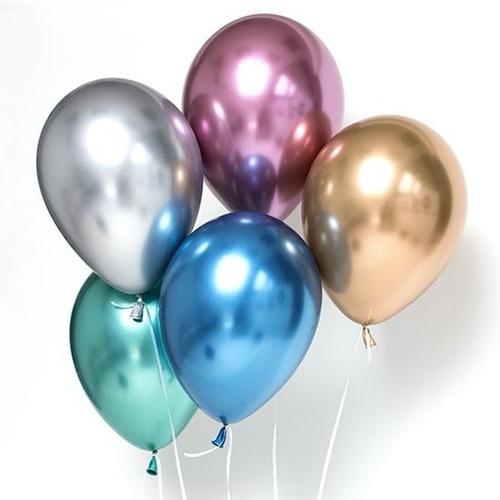 globo crome dorad-azul-lila-plata-fucsia-verde l12``  x 10 u