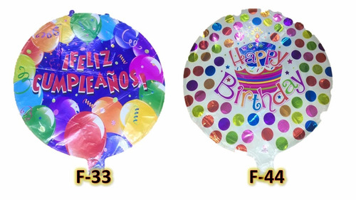 globo cumpleaños 18 pulgas par gas helio,happy birtday