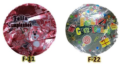 globo cumpleaños 18 pulgas par gas helio,happy birtday