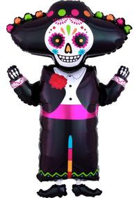 Globo De Calavera Charro Calavera Mariachi Fiesta Mexicana