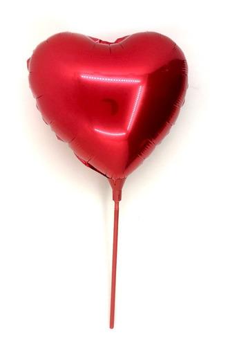 globo de corazón colores mate 25cm con soporte