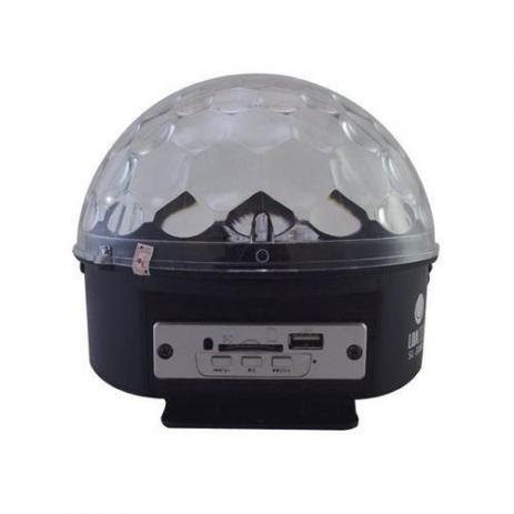 globo de luz led giratorio mp3 usb bluetooth