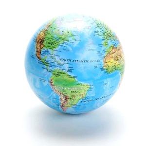 Globo de mesa girat rio mapa mundi r 56 00 em mercado livre for Mesa cristal mapamundi