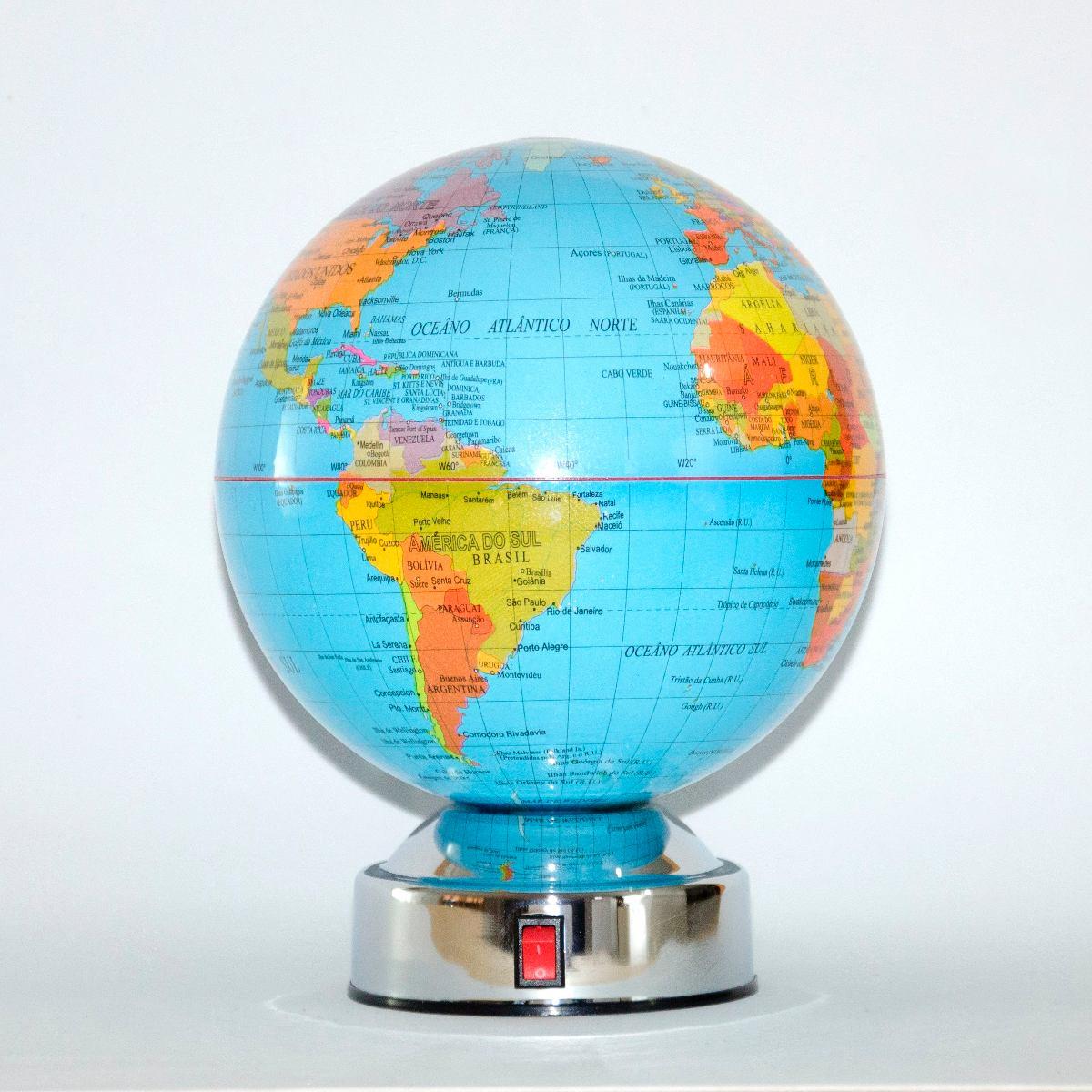 Globo de mesa girat rio mapa mundi r 59 90 em mercado livre for Mesa cristal mapamundi