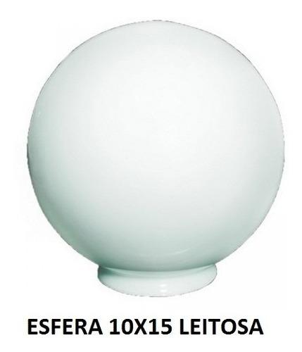 globo de vidro p/ ilum. leitoso 10x15 kit c/ 6 pçs