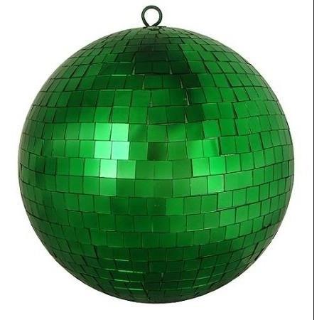 globo espelhado 20 cm verde para festa com ótimo acabamento
