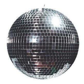 globo espelhado 30 cm excelente acabamento - dj festa evento