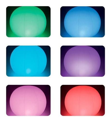 globo flotante con luz led intex