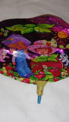 globo frutillitas centro de mesa x10