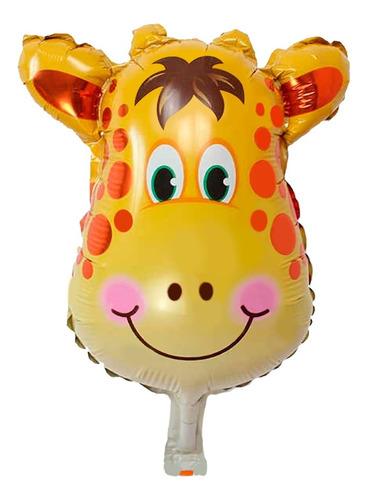 globo jirafa metalizado 9 pulgada animales - ciudad cotillón