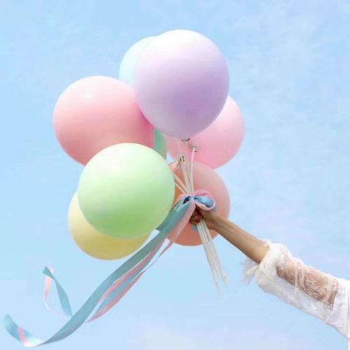 globo latex color pastel 12 pulgadas cotillon fiesta x25unid