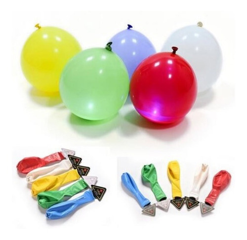globo latex luz led r-12 7 colores mayor detal