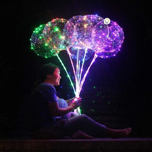 globo led luminosos 40 cm + luces micro led multicolor j041