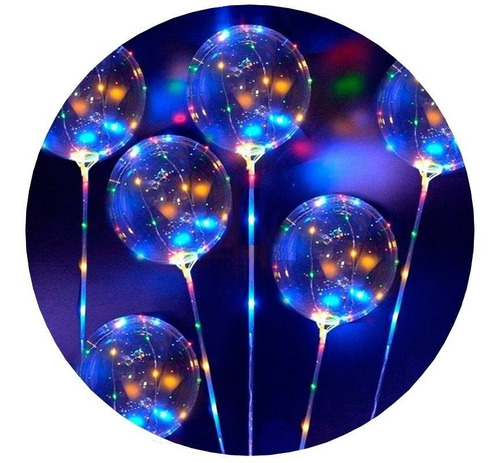 globo luminoso led cristal alambre 30 led 3 metros colores