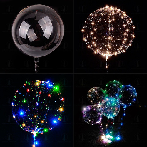 globo luminoso led cristal alambre 30 led 3m varios colores