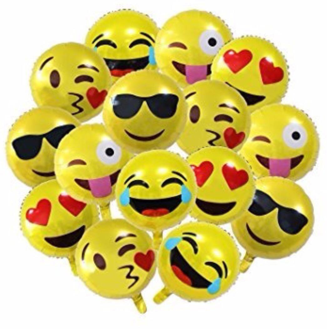 Globo Emoji Emoticon Whatsapp Metálico 18 20p