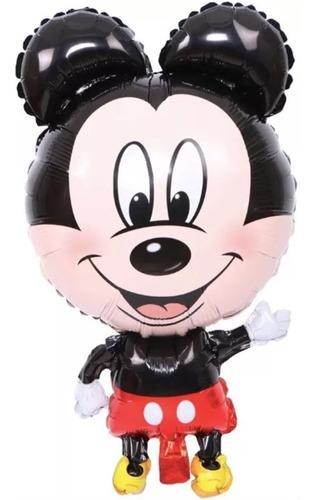 globo metalico de mouse miguelito - 5 pack -
