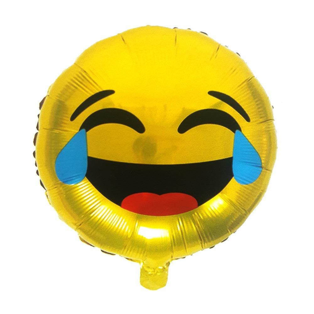 Globo Metálico Emoticon Risa Llanto Cotillon Fiestaclub 490 En