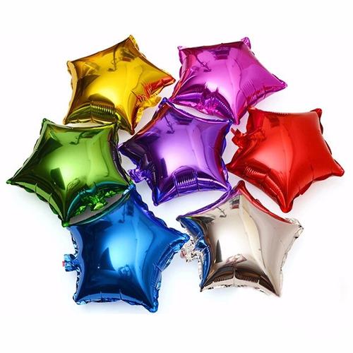 globo metalico estrella grande 13 pulgadas colores a elegir
