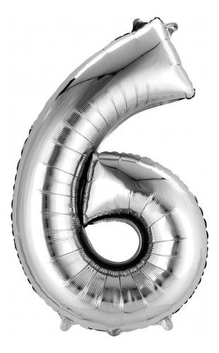 globo metalico helio numero fiesta 87 cm 34 pulgadas