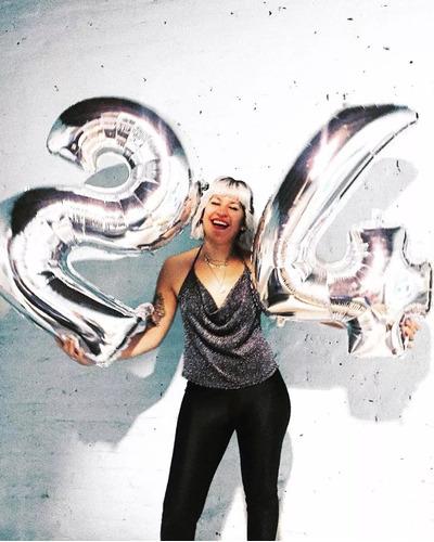 globo metalizado 80cm plata deco plateado feliz cumpleaños