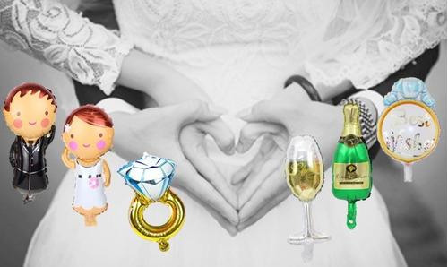 globo metalizado anillo compromiso novio novia boda te amo