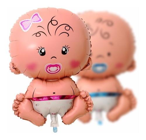 globo metalizado bebe 40cm baby shower nacimientos bautismos