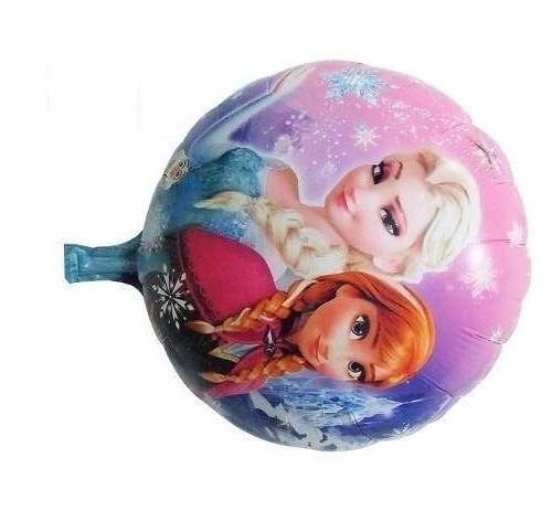 globo metalizado de 18'' inflado con helio frutillitas pepa