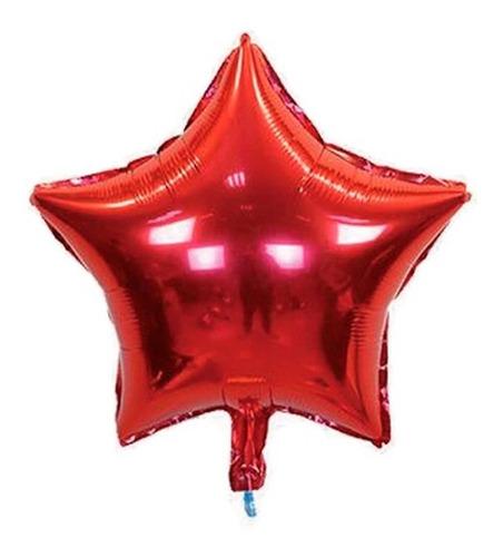globo metalizado estrella rojo plata azul 45cm mayor detal