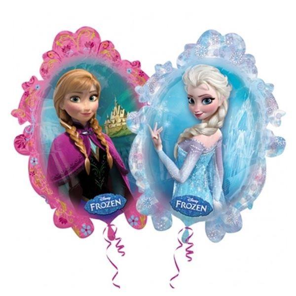 Globo Metalizado Forma Espejo Frozen Elsa Y Anna 24pulg 17000