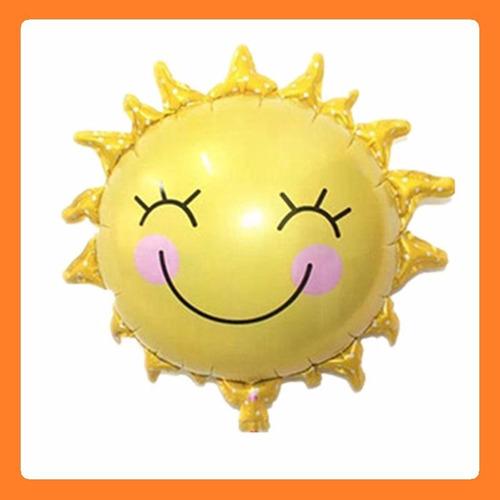 globo metalizado forma sol sonrisa ( ideal decoración )