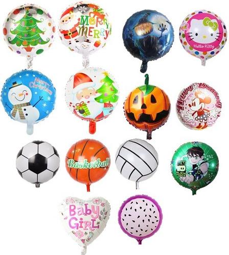 globo metalizado futbol basket voleibol deporte cumpleaños