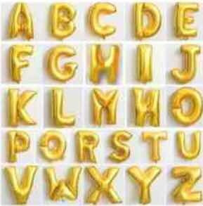 globo metalizado letras 40cm x11u leer descripcion