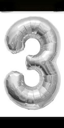 globo metalizado plateado 70 cm