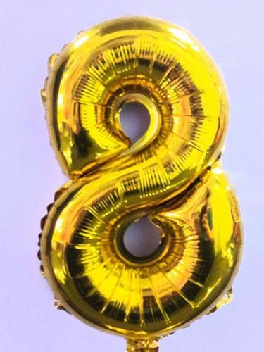 globo numeros por 1 unidad 40 cm apto aire comun