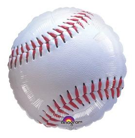 Globo Pelota De Beisbol Paquete 6 Pzas Medida 18 Pulgadas