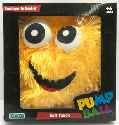 globo pelota peluche pump ball soft touch tv ditoys once