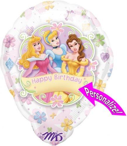 globo personalizado de princesa disney de 18 pulgadas
