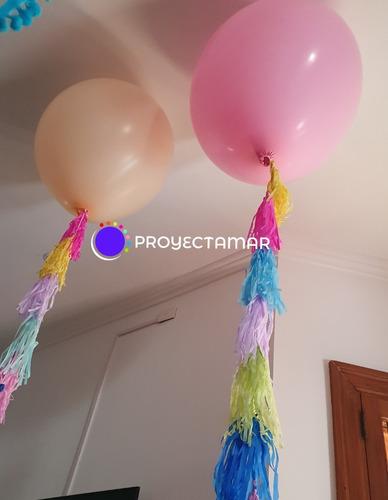 globo piñata 24 personalizado color a elección y confettis,