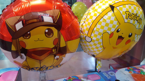 globo pokemon metálico foil 40cm mylar p/helio globo fun!