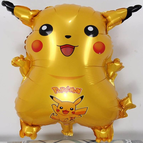 globo pokemon pikachu charmander squirtle mayor detal 66cm