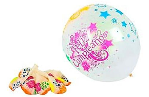 globo r12 sempertex x50 feliz cumpleaños cristal neón infiny