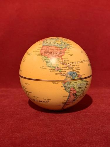 globo terráqueo 10 cm rotación con pila