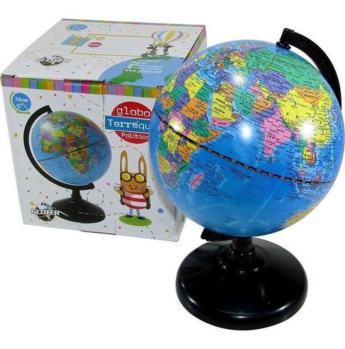 globo terráqueo 14 cm mapa politico 147w - educando -